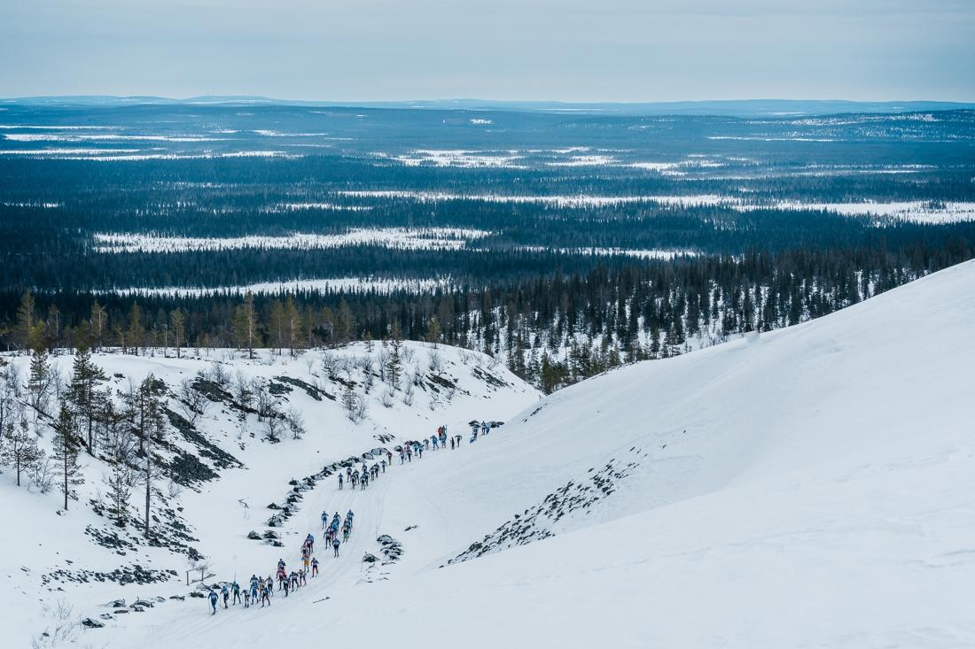 Man får se många fina vyer under 70 kilometer långa Ylläs-Levi. FOTO: Visma Ski Classics/Magnus Östh.