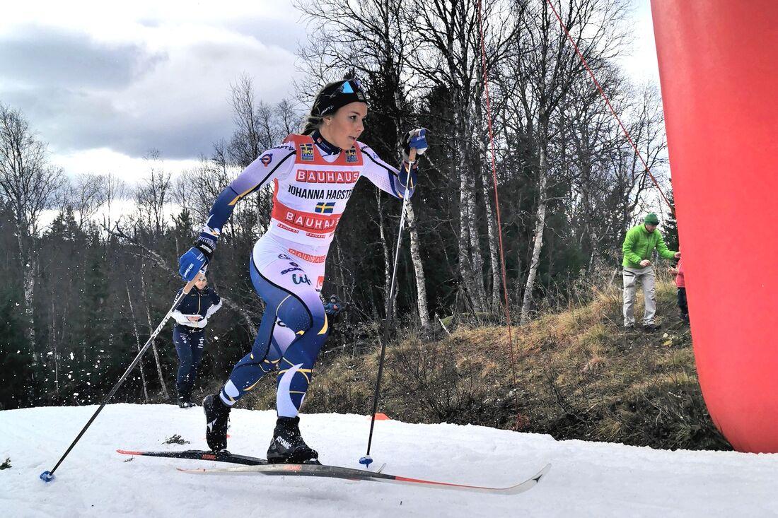 Johanna Hagström visade fin form när hon vann sprintprologen vid Toppidrettsveka. FOTO: Lukas Johansson/Svenska skidförbundet.