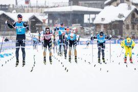 Förra vintern blev de en pangstart på säsongen i Visma Ski Classics för Lager 157 Ski Teams Emil Persson med seger i prologen. Nu ser säsong XI ut att flyttas fram till efter nyår. FOTO: Visma Ski Classics/Magnus Östh.