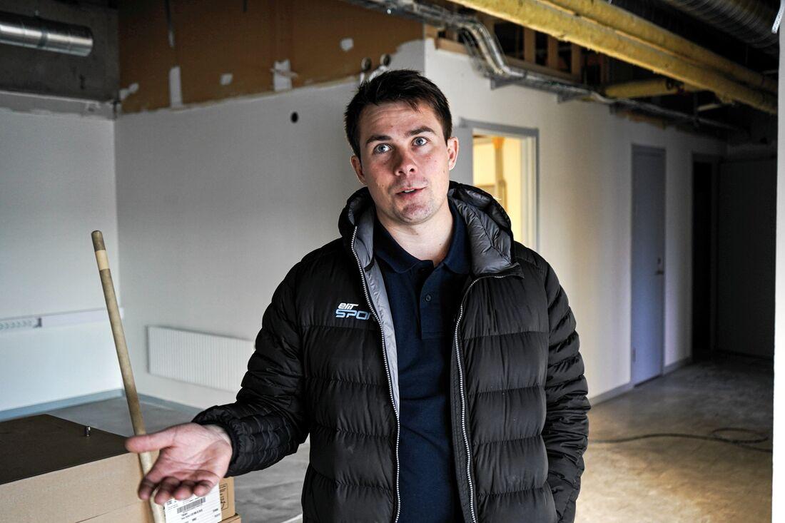 Gunnar Hammarbergs nya lokaler på handelscentrum Lillänge i Östersund renoveras inför invigning 23 december.