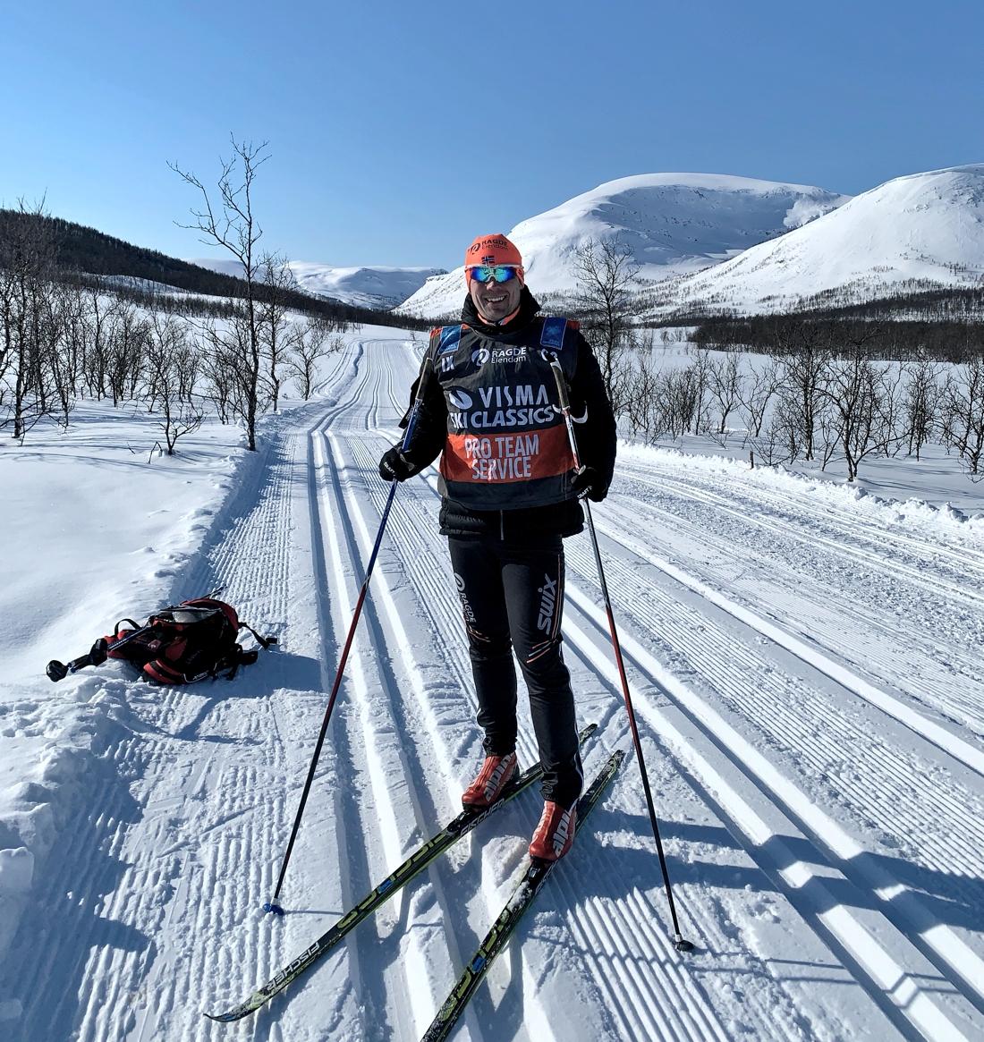 Hammarberg under perioden som vallare och serviceman för världens bästa långloppslag, Team Ragde Eiendom.