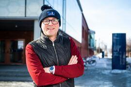 Den förre landslagstränaren Joakim Abrahamsson är verksamhetsledare för elitidrott på Luleå tekniska universitet. FOTO: Simon Eliasson/Luleå tekniska universitet.