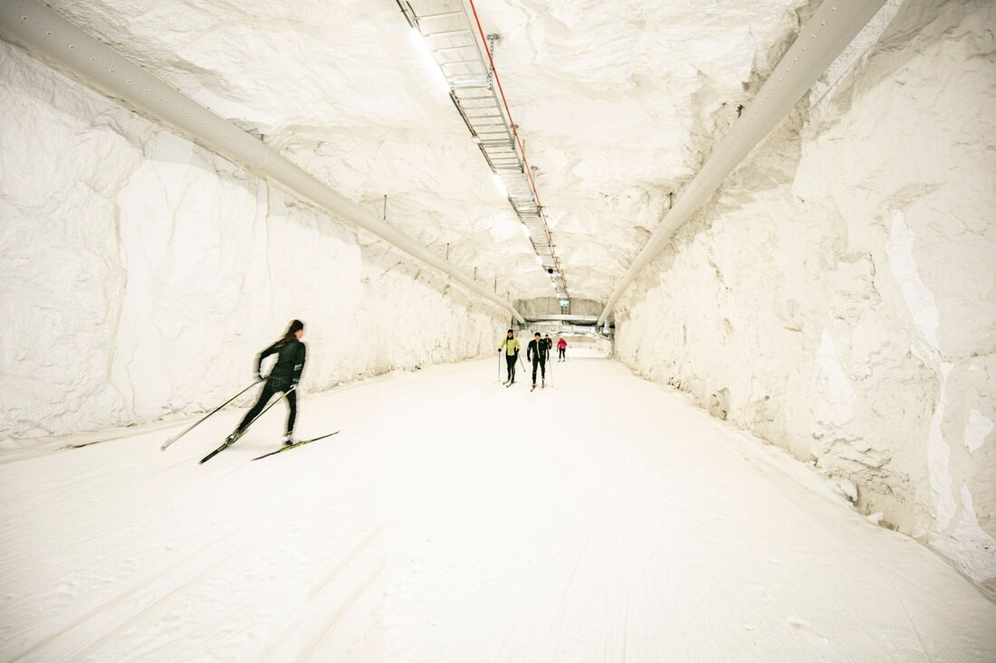 21-22 november arrangeras det ungdomstävlingar i skidtunneln Mid Sweden 365 i Gällö. FOTO: Håkan Wike.