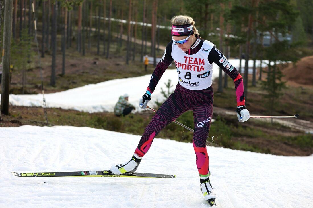 Anne Kyllönen vann lördagens sprinttävling i finska cupen i Vuokatti. FOTO: Touho Häkkinen.