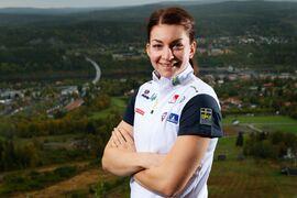 Moa Olsson hoppas att inte en knäskada ska stoppa henne från att ta en plats till Tour de Ski. FOTO: Nils Jakobsson/Bildbyrån.