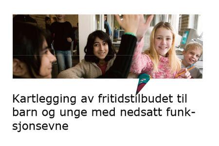 ingressbilde til artikkel om rapport om Kartlegging av fritidstilbudet til barn og unge med nedsatt funksjonsevne