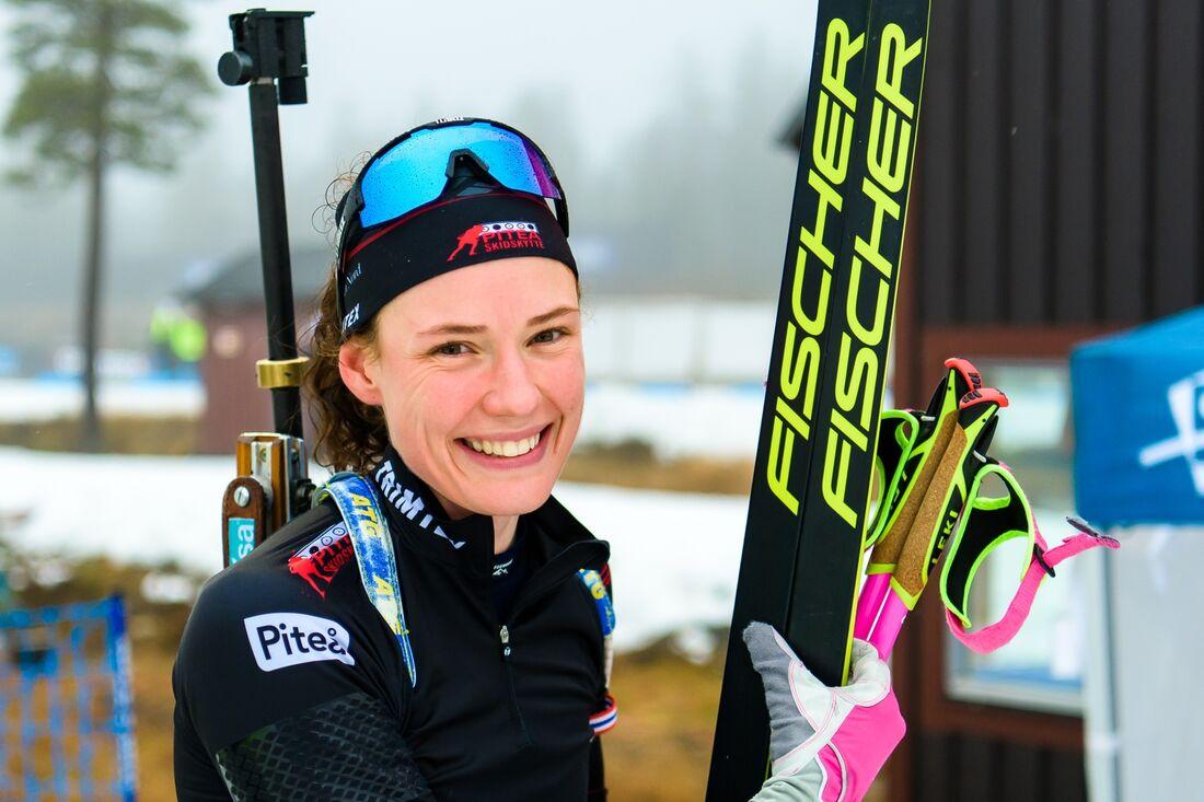 Hanna Öberg har öppnat säsongen starkt med två raka segrar på Idre Fjäll. FOTO: Fredrik Karlsson/Bildbyrån.