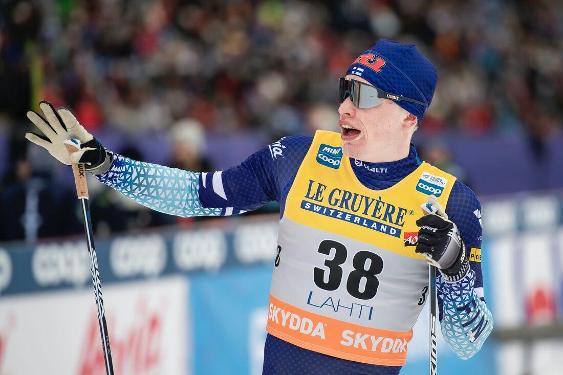 Iivo Niskanen visade mycket bra form på en träningstävling i Olos när han utklassade de ryska toppåkarna. FOTO: Johanna Lundberg/Bildbyrån.