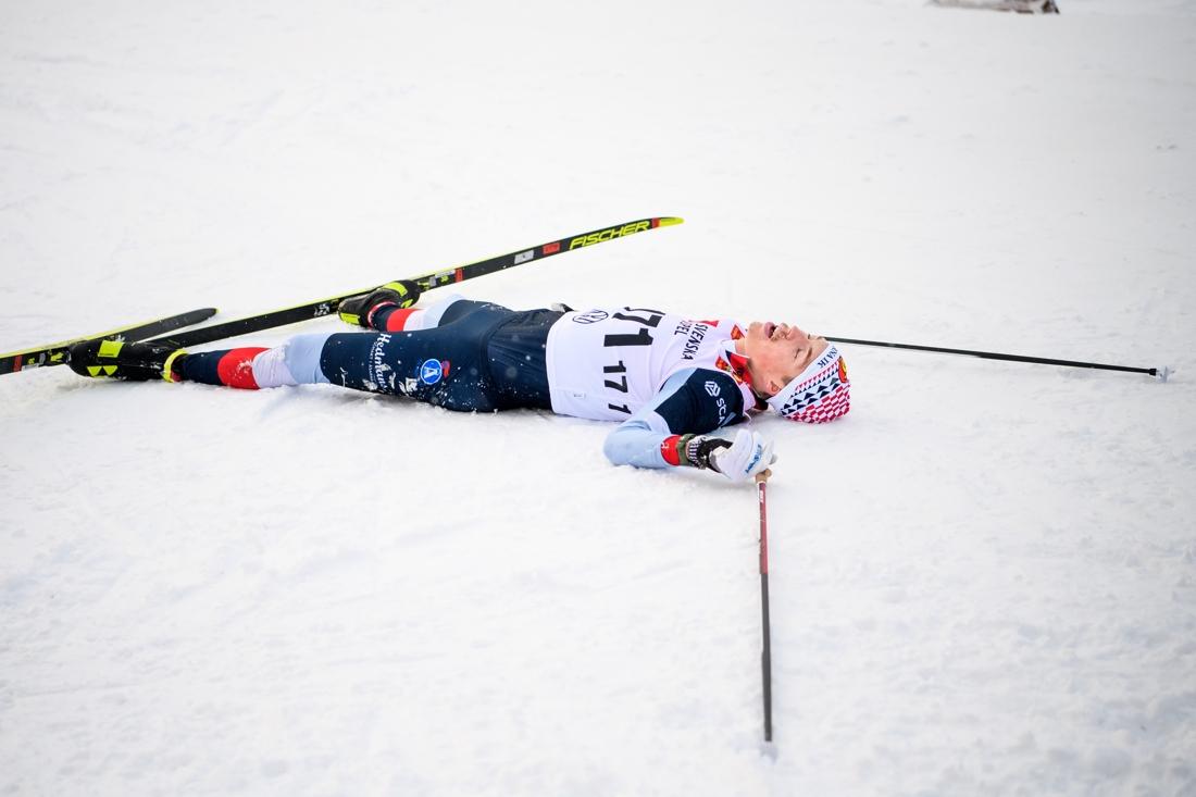 William Poromaa gav allt men det fattades drygt sju sekunder till seger. FOTO: Johanna Lundberg/Bildbyrån.