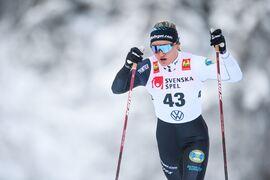 Linn Svahn vann sprintprologen i Bruksvallarna 45 hundradelar före Anna Dyvik. FOTO: Johanna Lundberg/Bildbyrån.
