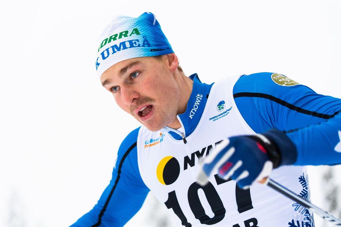 Marcus Grate var snabbast på herrarnas sprintprolog i Bruksvallarna. FOTO: Mathias Bergeld/Bildbyrån.