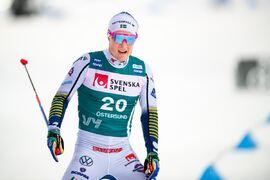 Jens Burman har fått hålla tillbaka på träningen de senaste veckorna på problem med ischiasnerven. I dag åker han dock 15 kilometer skejt i Bruksvallarna. FOTO: Carl Sandin/Bildbyrån.