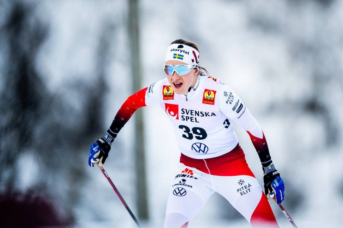 En något sliten Ebba Andersson tog andraplatsen. FOTO: Johanna Lundberg/Bildbyrån.