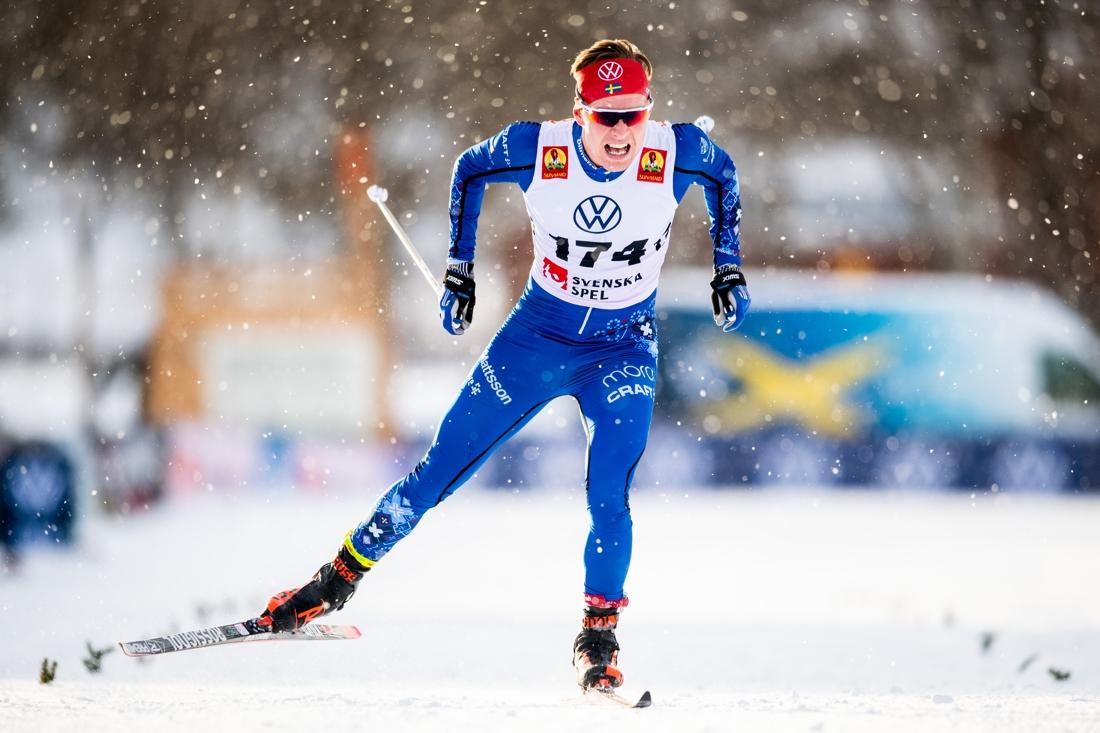 Axel Ekström mot tredjeplatsen. FOTO: Johanna Lundberg/Bildbyrån.