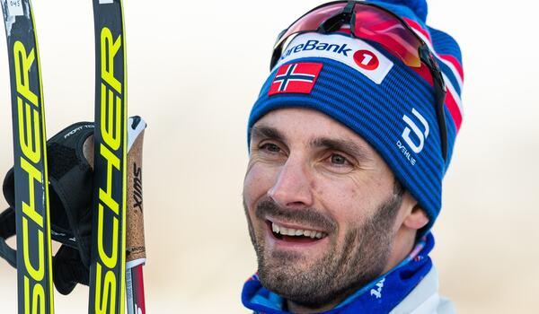 Femmilsvärdsmästaren Hans Christer Holund vann söndagens fristilslopp i Beitostölen. FOTO: Vegard Wivestad Grött/Bildbyrån.