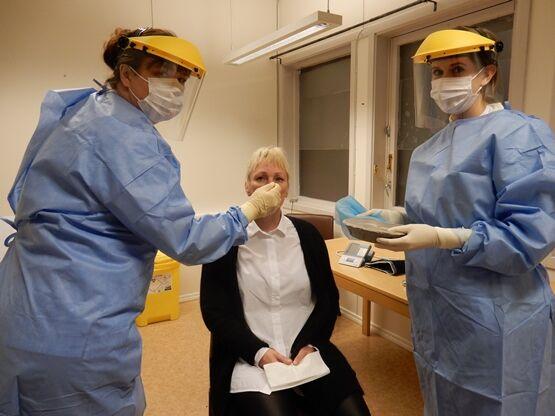 F.v. Trude Zahlsen, Gunnbjørg Olufsen og Nine Therese Hansen