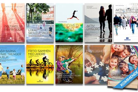 Oversiktsbilde som viser alle utgitte bøker i bokserien