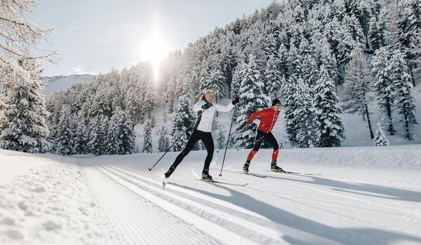 Vallelungadalen i italienska Sydtyrolen bjuder på suveräna förhållanden för längdåkning. FOTO: Benjamin Pfitscher.
