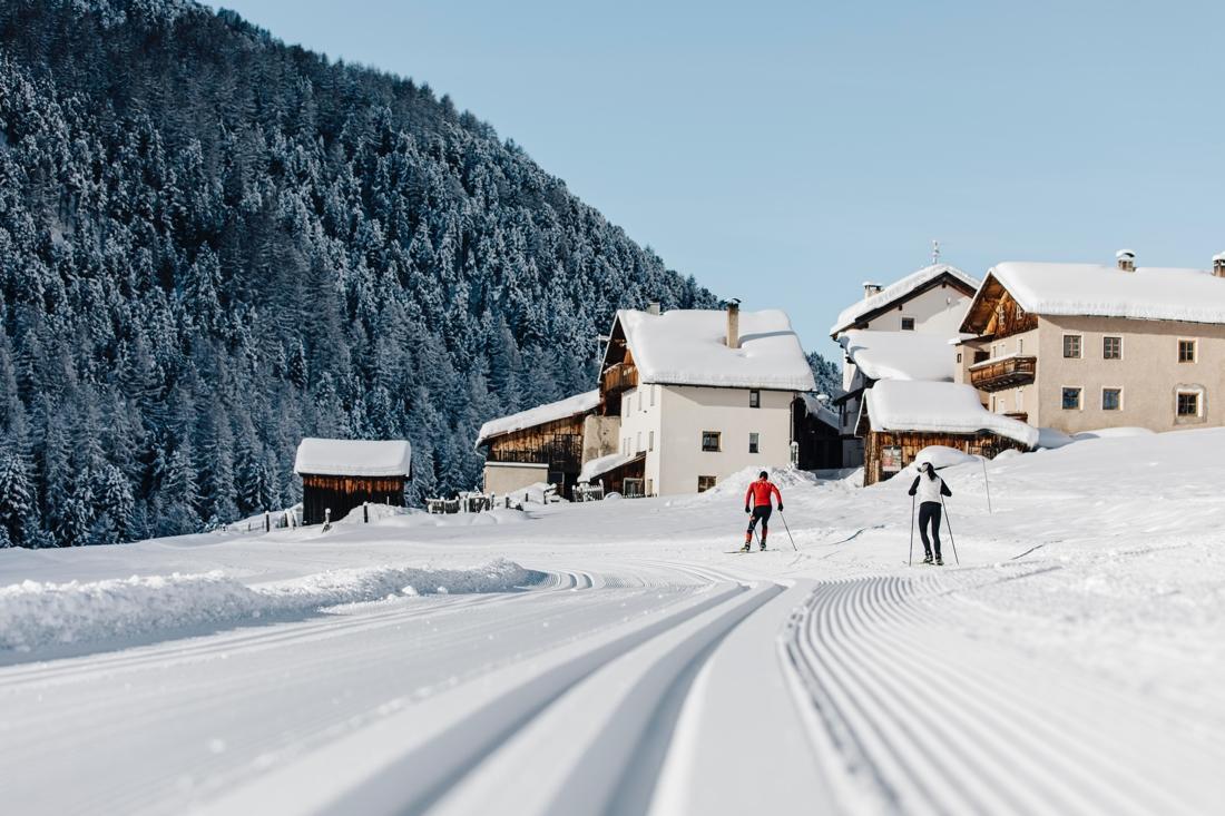 Fantastiska spår och snöförhållanden är var Vallelungadalen bjuder på. FOTO: Benjamin Pfitscher.