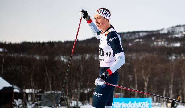 William Poromaa är förhoppningsfull inför starten på världscupen i morgon. FOTO: Johanna Lundberg/Bildbyrån.