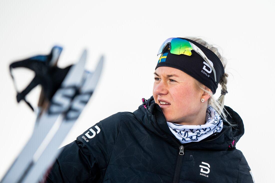 Maja Dahlqvist var tvåa på sprintprologen i Ruka där de svenska damerna radade upp sig bland de snabbaste åkarna. FOTO: Johanna Lundberg/Bildbyrån.