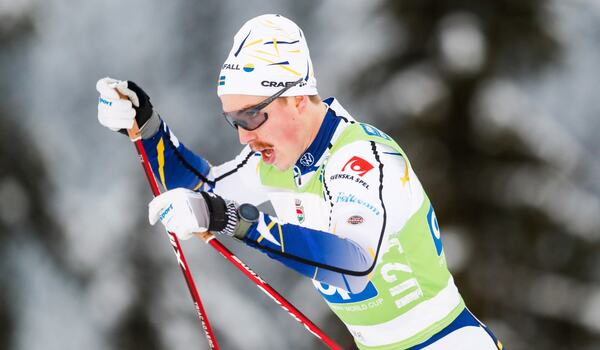 William Poromaa blev 17:e man i jaktstarten i Ruka. FOTO: Tomi Hänninen/Bildbyrån.