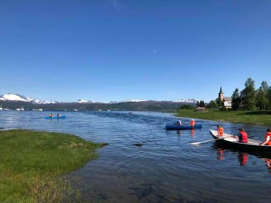 Røsvik byr på rike muligheter for friluftsliv, både til lands og til vanns