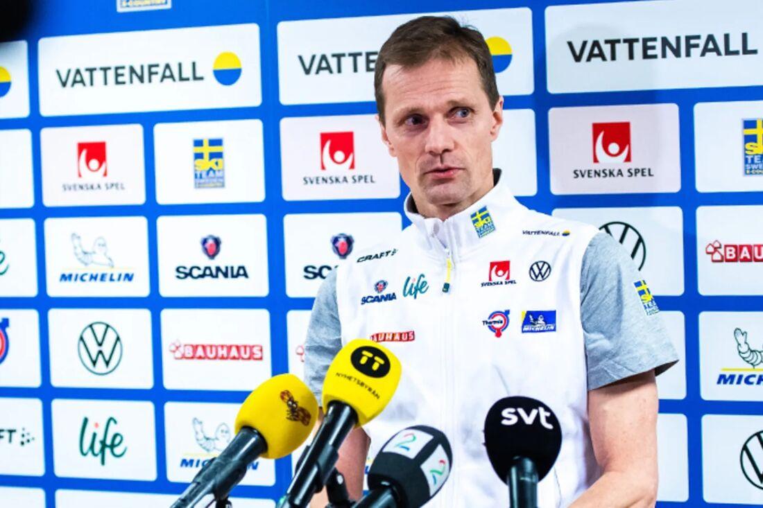 Svenska skidförbundets längdchef Daniel Fåhraeus meddelar på onsdagen att landslaget avstår kommande världscuptävlingar i Davos och Dresden. FOTO: Bildbyrån.