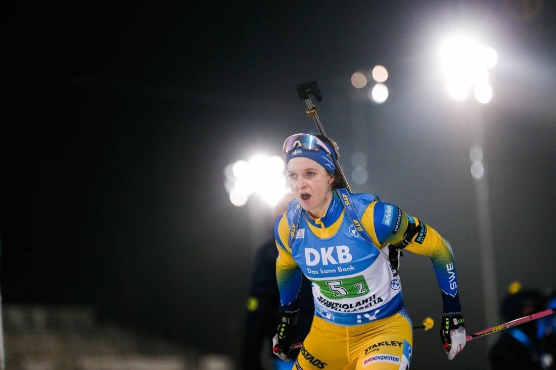 En fokuserade Mona Brorsson på sträcka två. FOTO: Kalle Parkkinen/Bildbyrån.