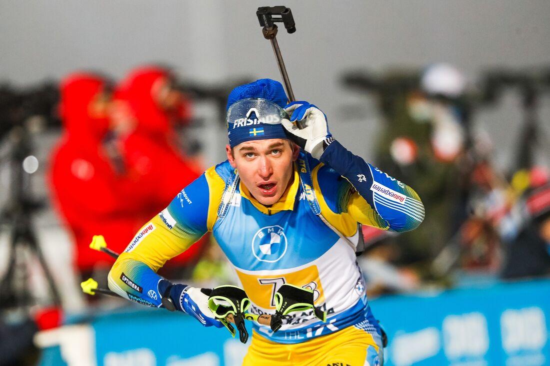 Martin Ponsiluoma kämpade om pallen och slutade femma på jaktstarten i Hochfilzen. FOTO: Kalle Parkkinen/Bildbyrån.
