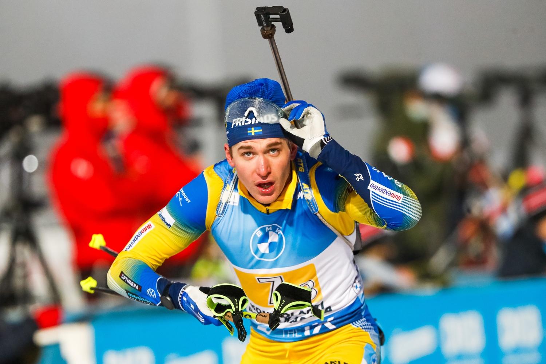 Martin Ponsiluoma förde upp Sverige till tredje plats på tredjesträckan. FOTO: Kalle Parkkinen/Bildbyrån.