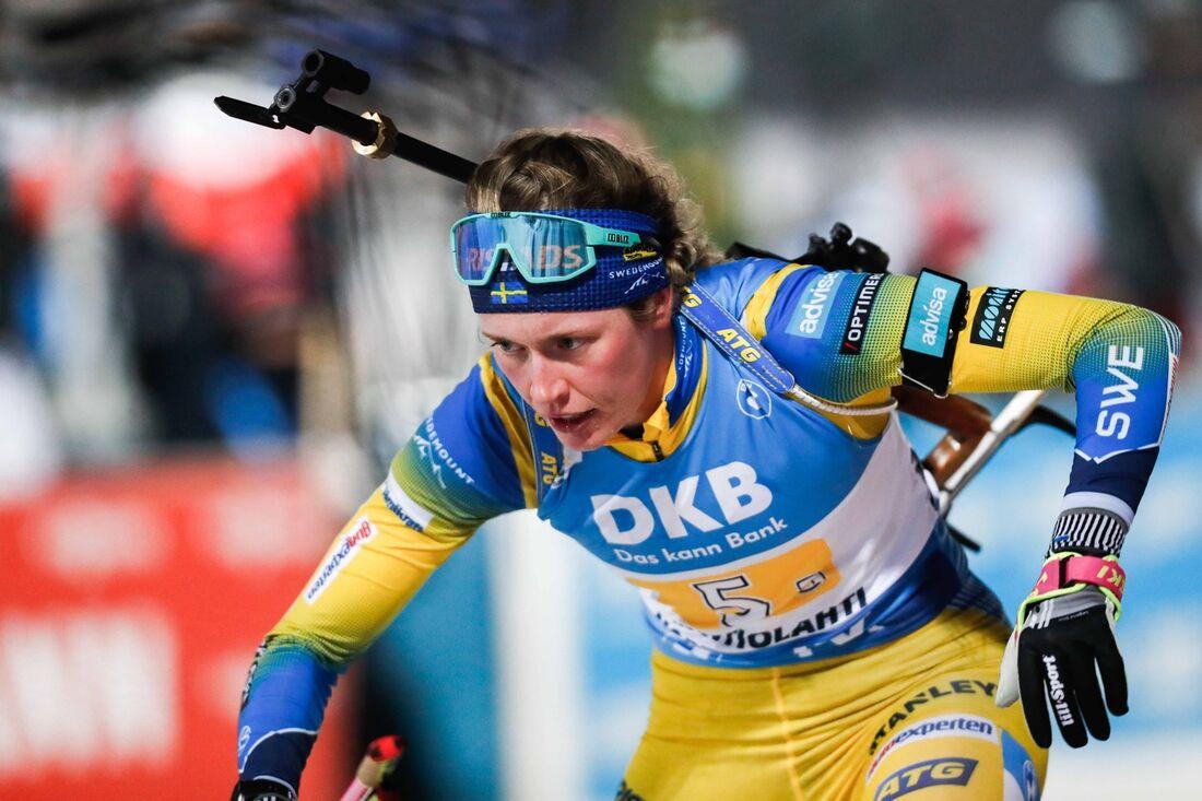 Elvira Öberg var bäste svensk som elva på damernas sprint i Hochfilzen. FOTO: Kalle Parkkinen/Bildbyrån.