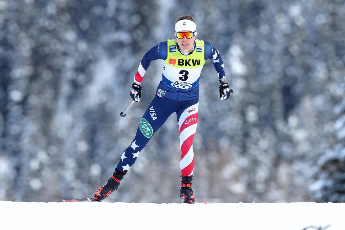 Rosie Brennan var en skrällvinnare på världscupsprinten i Davos. FOTO: M. Engelbrecht, Gepa Pictures/Bildbyrån.