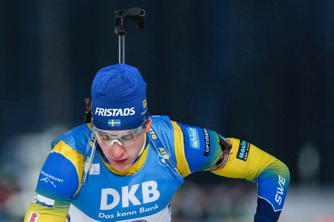 Martin Posiluoma blev nia med en bom på torsdagens sprint I Hochfilzen. FOTO: Kalle Parkkinen/Bildbyrån.