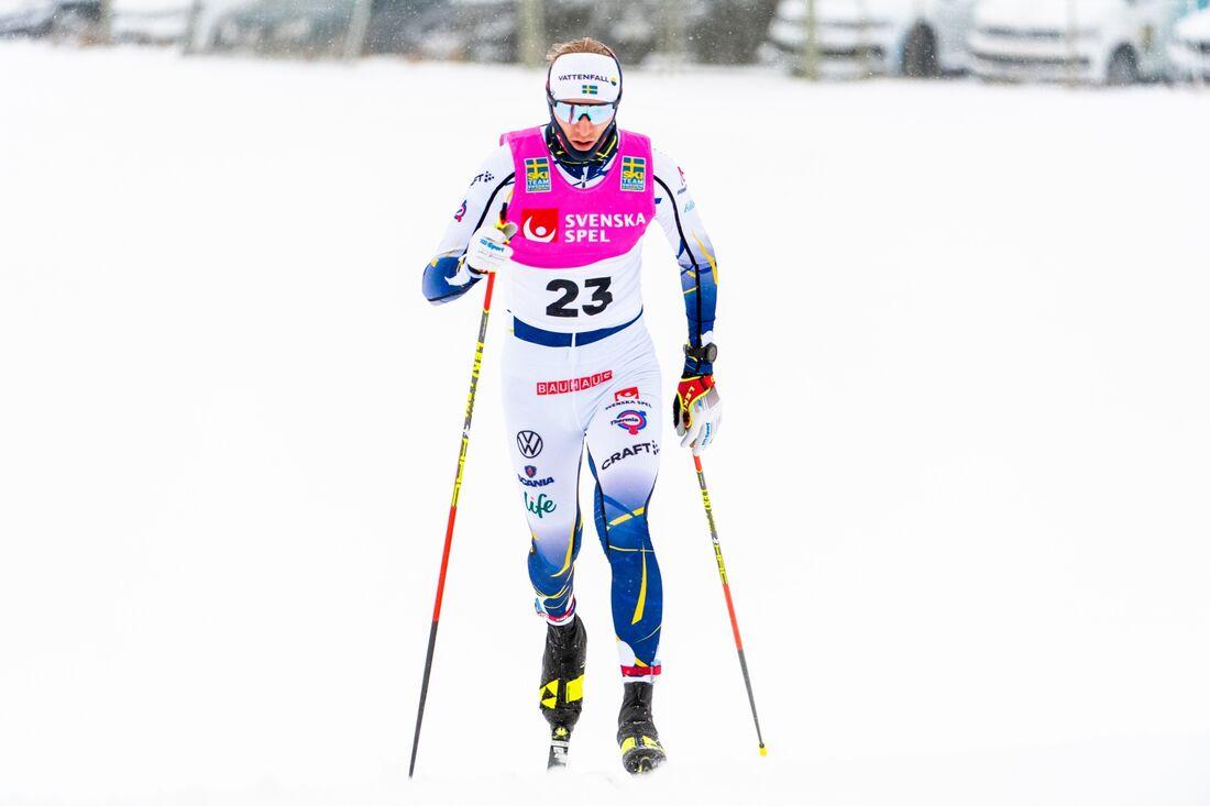 Oskar Svensson vann sprinten i Östersund på fredagen. FOTO: Erik Mårtensson/Bildbyrån.