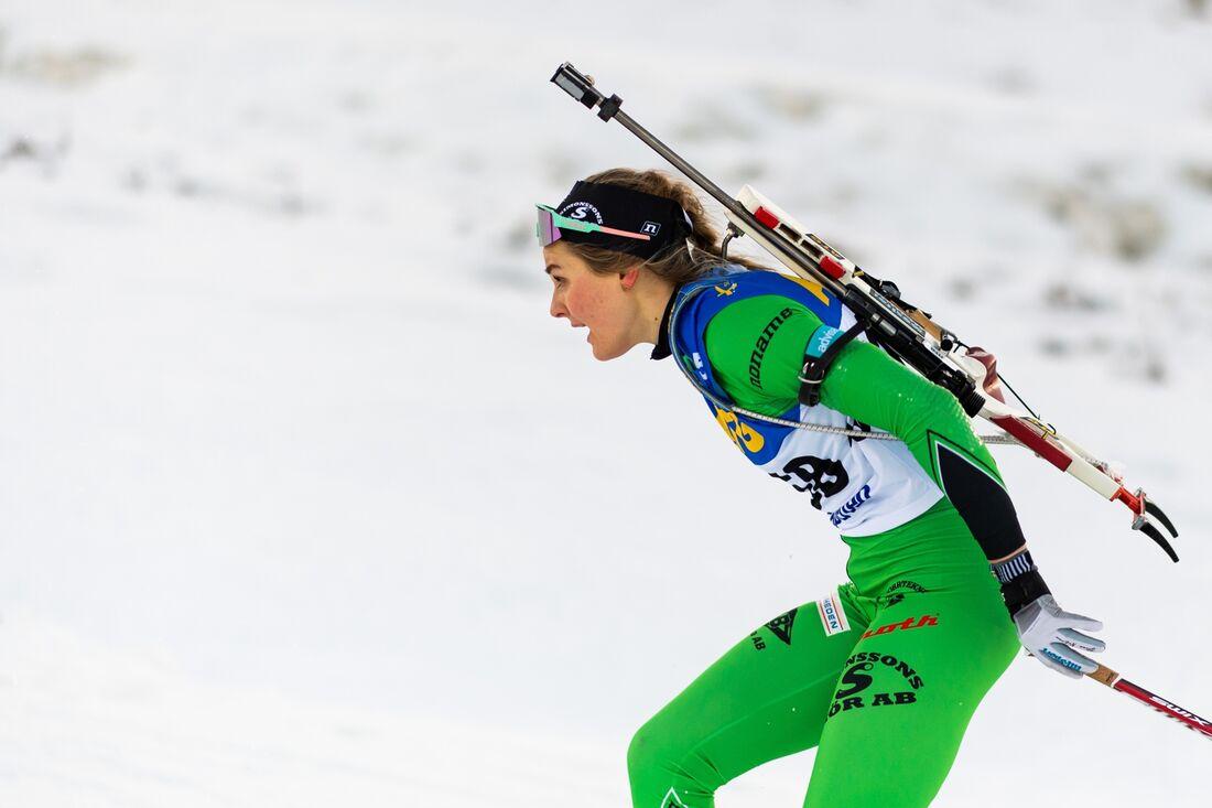 Stina Nilsson blev trea på en OBS-tävling i Östersund på måndagen. FOTO: Joel Marklund/Bildbyrån.