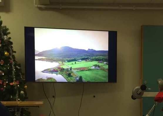 Bildevisning ved Sørfold sykehjem