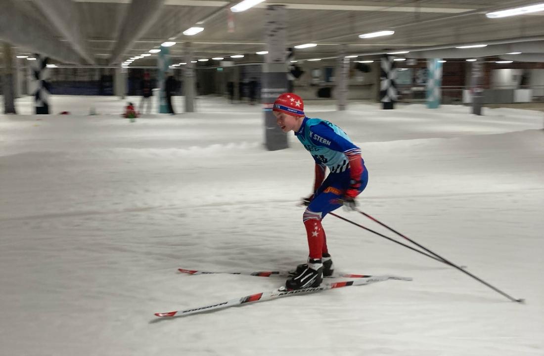 Full fart i Skidome på måndagskvällen. FOTO: IK Stern.