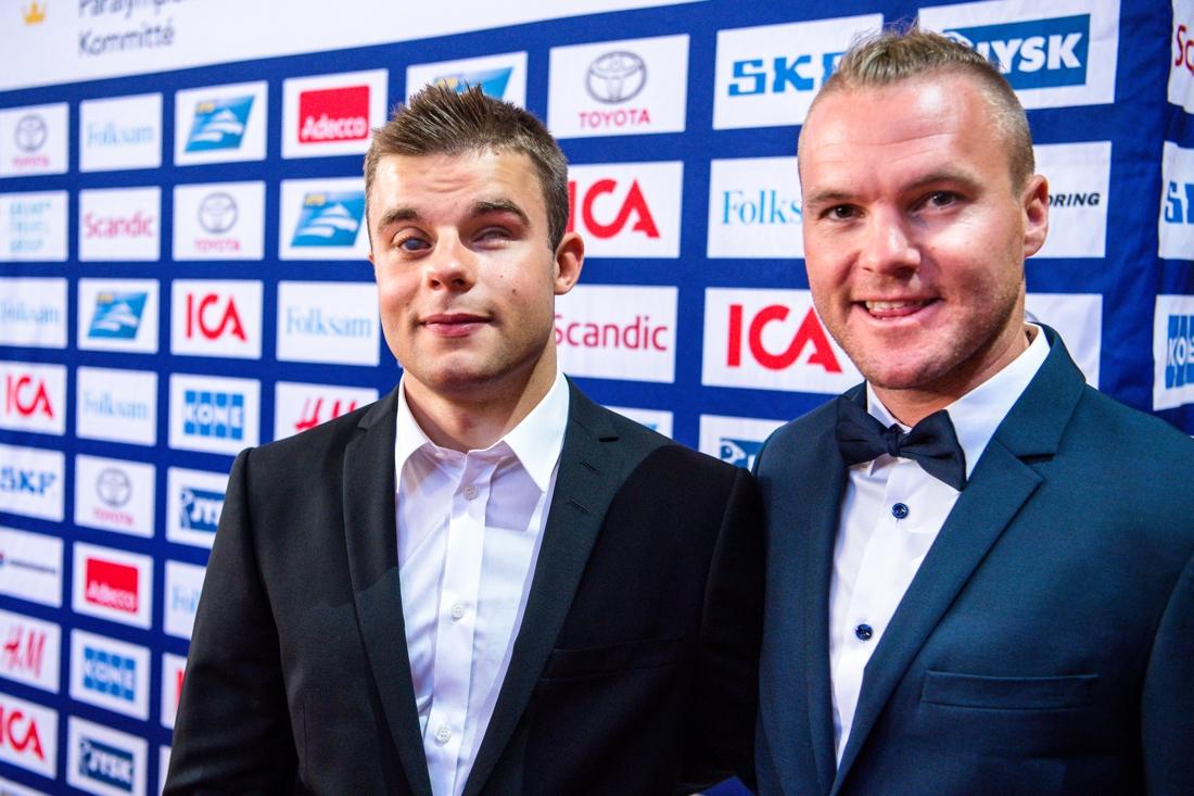 Zebastian Modin och Robin Bryntesson på idrottsgalan härom året. FOTO: Andreas L Eriksson/Bildbyrån.