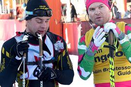 Zebastian Modin och Robin Bryntesson efter Kortvasan 2020. FOTO: Johan Trygg/Längd.se.