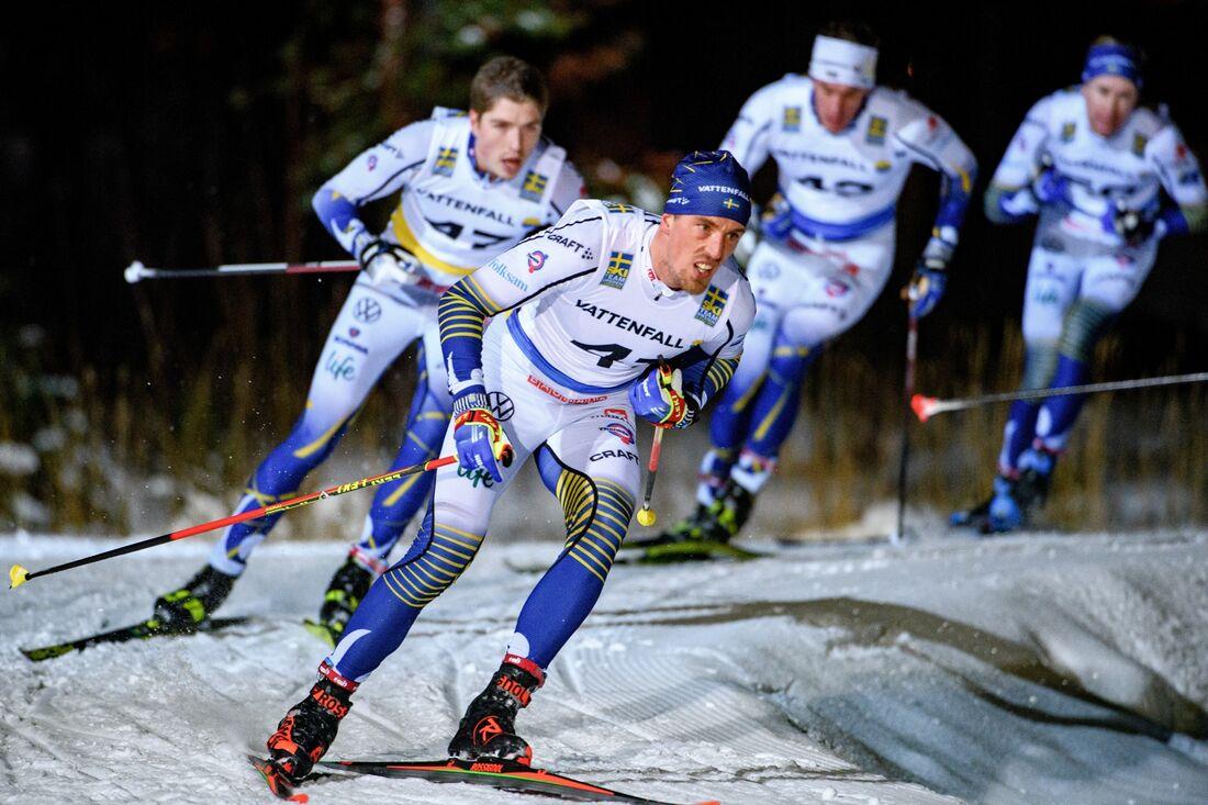 Calle Halfvarsson, William Poromaa och Johan Häggström är tre svenska herråkare att hålla tummarna för under Tour de Ski. FOTO: Erik Mårtensson/Bildbyrån.
