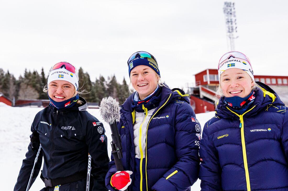 Tre tunga svenska namn när Tour de Ski startar med sprint i Val Müstair i morgon; Linn Svahn, Maja Dahlqvist och Jonna Sundling. FOTO: Johan Axelsson/Bildbyrån.