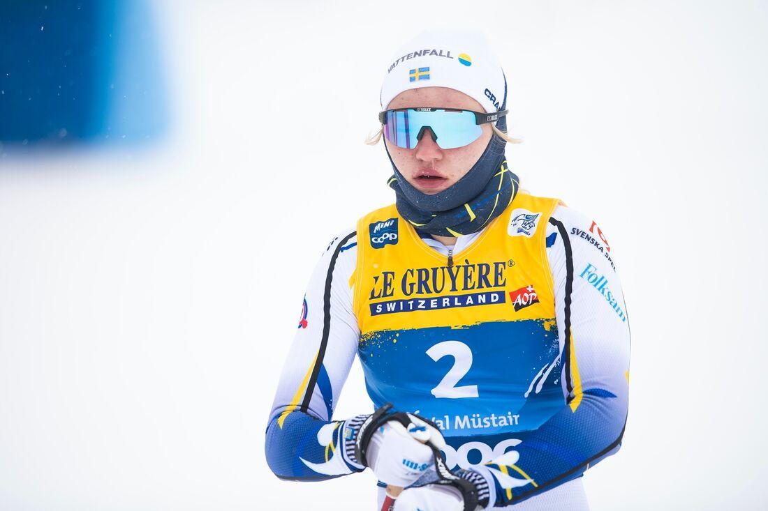 Linn Svahn vann sprinten i Val Müstair. FOTO: Maxim Thore/Bildbyrån.