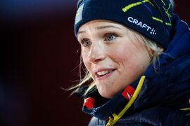 Frida Karlsson flyttas tillbaka till fjärde plats på fredagens sprint i Tour de Ski sedan Slovenien överklagat Anamarija Lampic diskning. FOTO: Erik Mårtensson/Bildbyrån.
