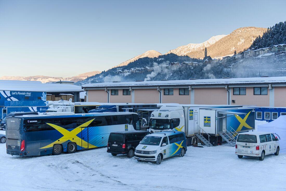 Sverige har drabbats av sitt första Covid-19-fall under Tour de Ski. FOTO: Maxim Thore/Bildbyrån.