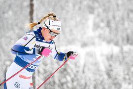 Linn Svahn är redor för start idag sedan hon lämnat ett negativt PCR-test. FOTO: Maxim Thore/Bildbyrån.