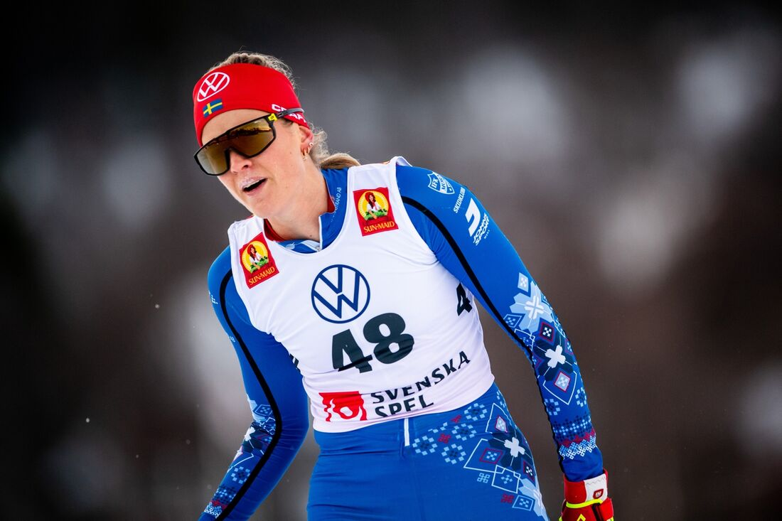 Anna Dyvik var snabbast på sprintprologen under Volkswagen cup i Östersund. FOTO: Johanna Lundberg/Bildbyrån.