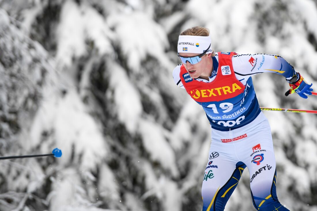 Oskar Svensson hade åttonde tid på prologen i Val di Fiemme. FOTO: Maxim Thore/Bildbyrån.
