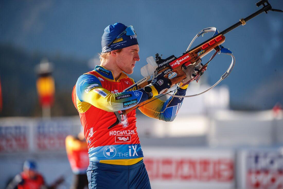 Sebastian Samuelsson avancerade till sjunde plats på jaktstarten i Oberhof. FOTO: Jasmin Walters, Gepa Pictures/Bildbyrån.