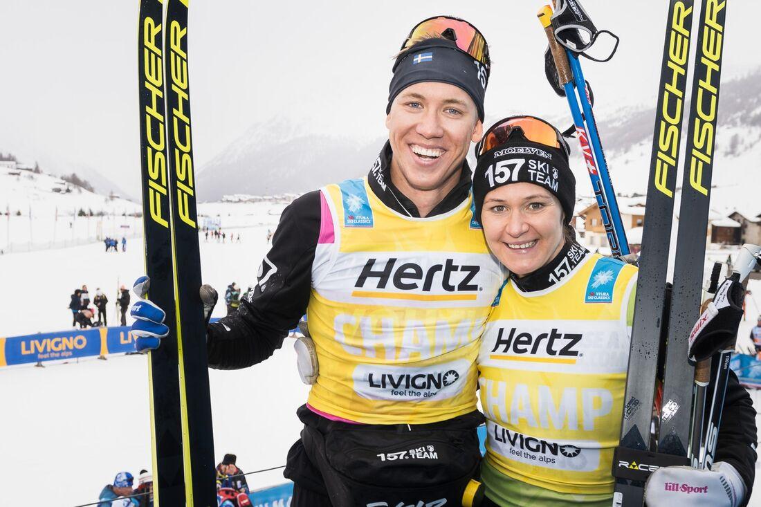 Britta Johansson Norgren ligger trea på Visma Ski Classics ranking inför starten på säsong XI. Emil Persson är på 15:e plats. FOTO: Visma Ski Classics/Magnus Östh.